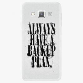 Plastový kryt iSaprio - Backup Plan - Samsung Galaxy A3 Pouzdra, kryty a obaly na mobil Samsung Galaxy A3