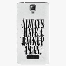 Plastový kryt iSaprio - Backup Plan - Lenovo A2010 Pouzdra, obaly a kryty na mobilní telefon Lenovo A2010