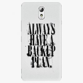 Plastový kryt iSaprio - Backup Plan - Lenovo P1m Pouzdra, obaly a kryty na mobilní telefon Lenovo P1m