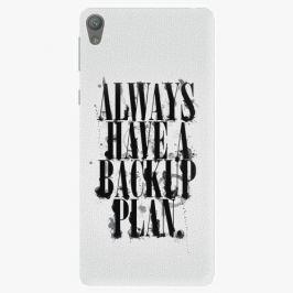 Plastový kryt iSaprio - Backup Plan - Sony Xperia E5 Pouzdra, obaly a kryty na mobilní telefon Sony Xperia E5