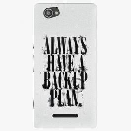 Plastový kryt iSaprio - Backup Plan - Sony Xperia M Pouzdra, obaly a kryty na mobilní telefon Sony Xperia M