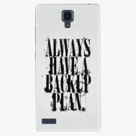 Plastový kryt iSaprio - Backup Plan - Xiaomi Redmi Note
