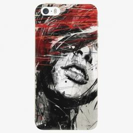 Plastový kryt iSaprio - Sketch Face - iPhone 5/5S/SE Pouzdra, kryty a obaly na mobil Apple iPhone 5/5S/SE