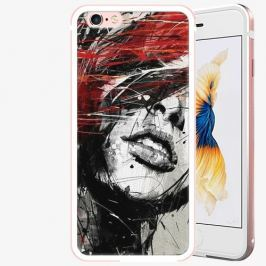 Plastový kryt iSaprio - Sketch Face - iPhone 6/6S - Rose Gold Pouzdra, kryty a obaly na mobil Apple iPhone 6/6S ALU Rose Gold
