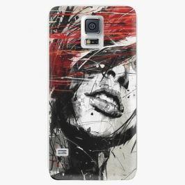 Plastový kryt iSaprio - Sketch Face - Samsung Galaxy S5 Pouzdra, kryty a obaly na mobil Samsung Galaxy S5