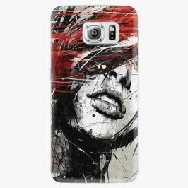 Plastový kryt iSaprio - Sketch Face - Samsung Galaxy S6 Pouzdra, kryty a obaly na mobil Samsung Galaxy S6