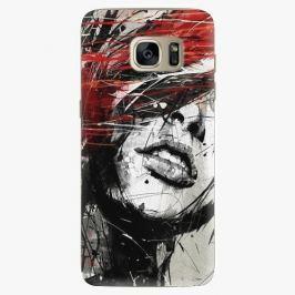 Plastový kryt iSaprio - Sketch Face - Samsung Galaxy S7 Edge Pouzdra, kryty a obaly na mobil Samsung Galaxy S7 Edge