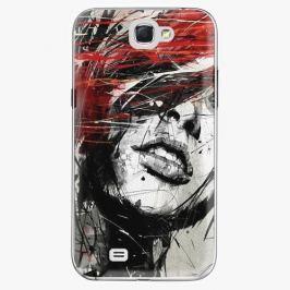 Plastový kryt iSaprio - Sketch Face - Samsung Galaxy Note 2 Pouzdra, kryty a obaly na mobil Samsung Galaxy Note 2