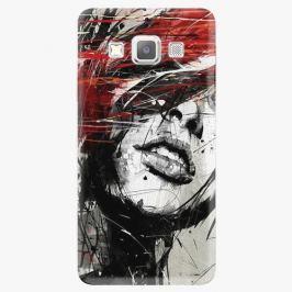 Plastový kryt iSaprio - Sketch Face - Samsung Galaxy A3 Pouzdra, kryty a obaly na mobil Samsung Galaxy A3