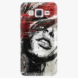 Plastový kryt iSaprio - Sketch Face - Samsung Galaxy J5 Pouzdra, kryty a obaly na mobil Samsung Galaxy J5