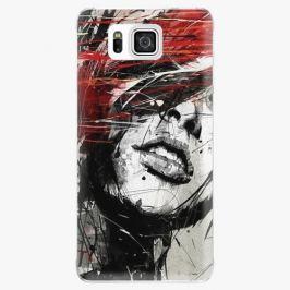 Plastový kryt iSaprio - Sketch Face - Samsung Galaxy Alpha Pouzdra, kryty a obaly na mobil Samsung Galaxy Alpha