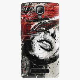 Plastový kryt iSaprio - Sketch Face - Lenovo A1000 Pouzdra, obaly a kryty na mobilní telefon Lenovo A1000