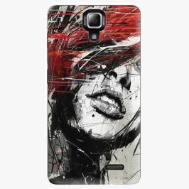 Plastový kryt iSaprio - Sketch Face - Lenovo A536 Pouzdra, obaly a kryty na mobilní telefon Lenovo A536
