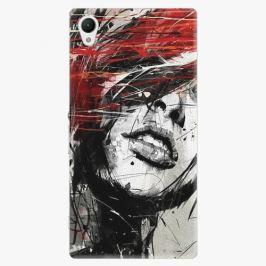 Plastový kryt iSaprio - Sketch Face - Sony Xperia Z1 Pouzdra, obaly a kryty na mobilní telefon Sony Xperia Z1