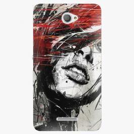 Plastový kryt iSaprio - Sketch Face - Sony Xperia E4 Pouzdra, obaly a kryty na mobilní telefon Sony Xperia E4