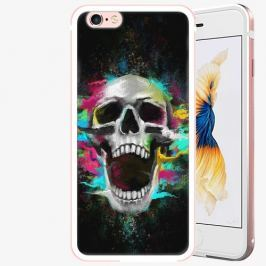 Plastový kryt iSaprio - Skull in Colors - iPhone 6/6S - Rose Gold