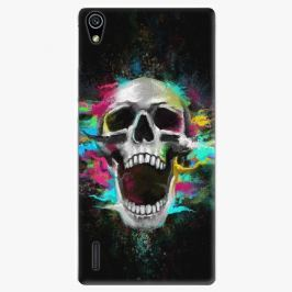 Plastový kryt iSaprio - Skull in Colors - Huawei Ascend P7