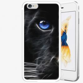 Plastový kryt iSaprio - Black Puma - iPhone 6 Plus/6S Plus - Silver