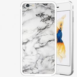 Plastový kryt iSaprio - White Marble 01 - iPhone 6/6S - Silver