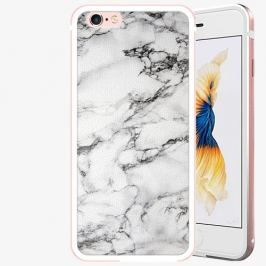 Plastový kryt iSaprio - White Marble 01 - iPhone 6 Plus/6S Plus - Rose Gold
