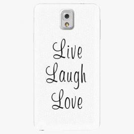 Plastový kryt iSaprio - Live Laugh Love - Samsung Galaxy Note 3