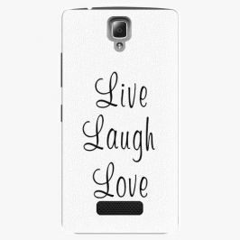 Plastový kryt iSaprio - Live Laugh Love - Lenovo A2010