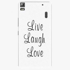 Plastový kryt iSaprio - Live Laugh Love - Lenovo A7000