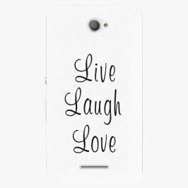 Plastový kryt iSaprio - Live Laugh Love - Sony Xperia E4