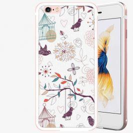 Plastový kryt iSaprio - Birds - iPhone 6/6S - Rose Gold