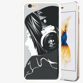 Plastový kryt iSaprio - Headphones - iPhone 6 Plus/6S Plus - Gold