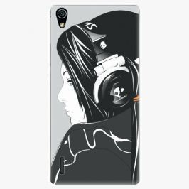 Plastový kryt iSaprio - Headphones - Huawei Ascend P7