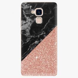 Plastový kryt iSaprio - Rose and Black Marble - Huawei Honor 7 Lite