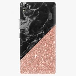 Plastový kryt iSaprio - Rose and Black Marble - Lenovo A7000