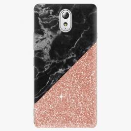 Plastový kryt iSaprio - Rose and Black Marble - Lenovo P1m