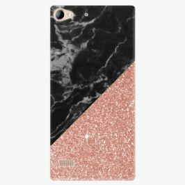 Plastový kryt iSaprio - Rose and Black Marble - Lenovo Vibe X2