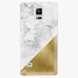 Plastový kryt iSaprio - Gold and WH Marble - Samsung Galaxy Note 4