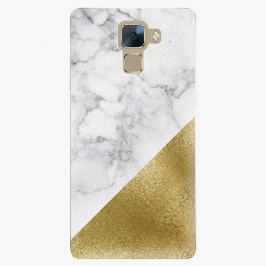 Plastový kryt iSaprio - Gold and WH Marble - Huawei Honor 7