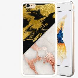 Plastový kryt iSaprio - Shining Marble - iPhone 6/6S - Gold