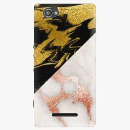 Plastový kryt iSaprio - Shining Marble - Sony Xperia M