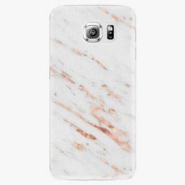 Plastový kryt iSaprio - Rose Gold Marble - Samsung Galaxy S6 Edge