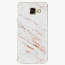 Plastový kryt iSaprio - Rose Gold Marble - Samsung Galaxy A3 2016