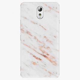 Plastový kryt iSaprio - Rose Gold Marble - Lenovo P1m
