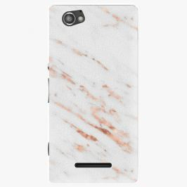 Plastový kryt iSaprio - Rose Gold Marble - Sony Xperia M