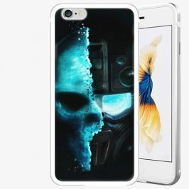 Plastový kryt iSaprio - Roboskull - iPhone 6 Plus/6S Plus - Silver