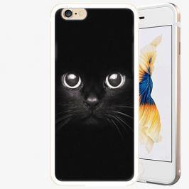 Plastový kryt iSaprio - Black Cat - iPhone 6/6S - Gold