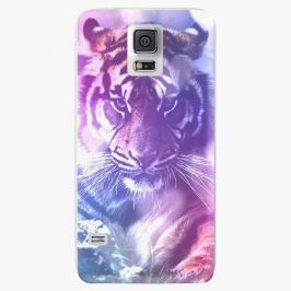 Plastový kryt iSaprio - Purple Tiger - Samsung Galaxy S5