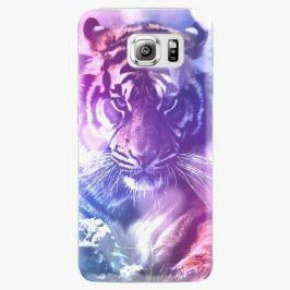 Plastový kryt iSaprio - Purple Tiger - Samsung Galaxy S6 Edge Plus