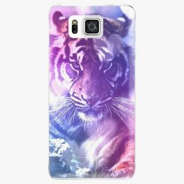 Plastový kryt iSaprio - Purple Tiger - Samsung Galaxy Alpha