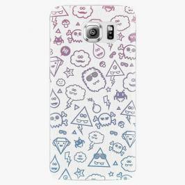 Plastový kryt iSaprio - Funny Clouds - Samsung Galaxy S6 Edge