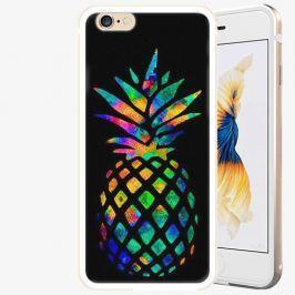 Plastový kryt iSaprio - Rainbow Pineapple - iPhone 6/6S - Gold